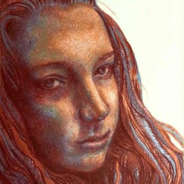 colored pencil drawing, Hartford Art School