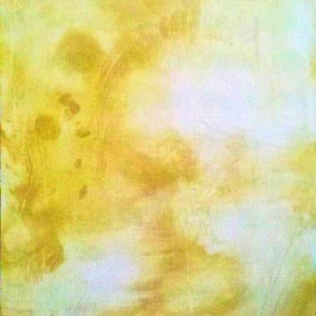 acrylic painting, ochre