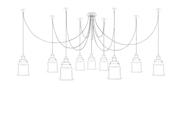 canopy, lights, lighting, glass, linework, line drawing, technical illustration