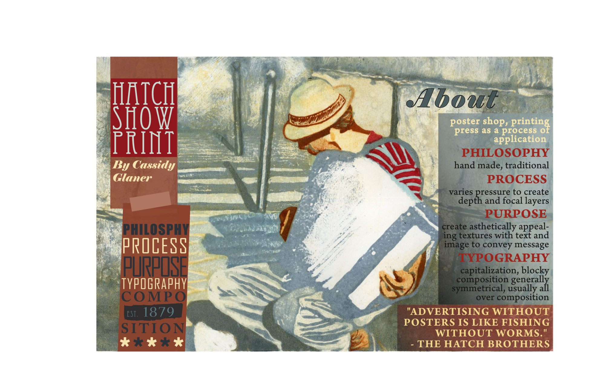 Hatch Show Print, monoprint, monotype, printmaking, graphic design, advertising, poster, media