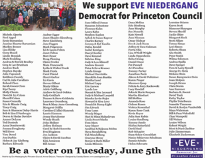 newspaper ad eve niedergang, vote, princeton